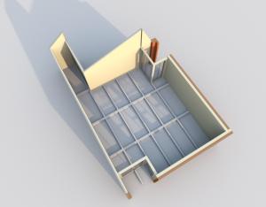 VUE 3D - Plan structure poutres béton R