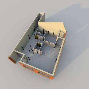 VUE 3D - Poteaux R