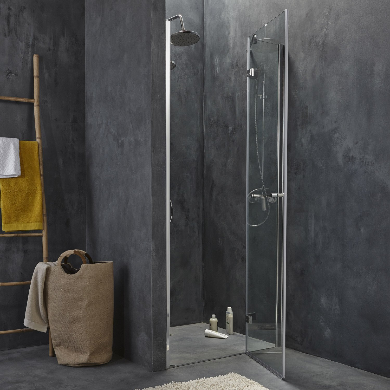 Un ch 39 ti loft id al finitions for Portes de douche leroy merlin